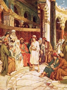 Christ Speaking with the Doctors in the Temple in Jerusalem by William Brassey Hole
