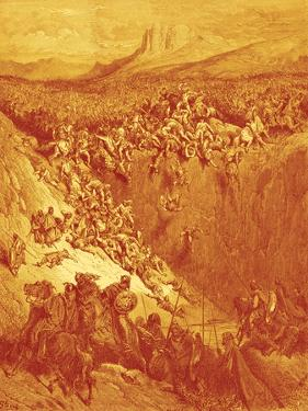 David spares the life of Saul - Bible by William Brassey Hole