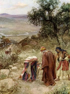 Elisha and the Shunamite woman - Bible by William Brassey Hole