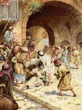 Establishment of the biblical City of Refuge - Bible by William Brassey Hole