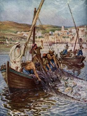 Four fishermen are called as disciples - Bible by William Brassey Hole