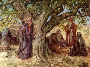 Genesis: Sarai overhearing the angels - Bible by William Brassey Hole