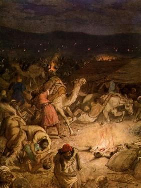 Gideon in the camp of the Midianites - Bible by William Brassey Hole
