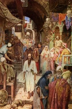 Isiah witnesses the decline of Jerusalem - Bible by William Brassey Hole