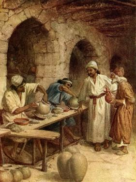 Jeremiah and the potter - Bible by William Brassey Hole