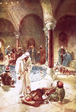 Jesus at the Pool of Bethseda by William Brassey Hole