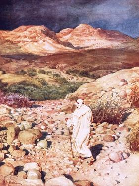 Jesus Being Led into the Wilderness to Be Tempted by the Devil by William Brassey Hole
