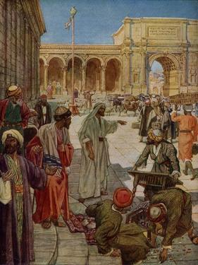 Jesus cleanses the temple - Bible by William Brassey Hole