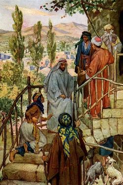 Jesus cures the possessed daughter of a Canaanite - Bible by William Brassey Hole