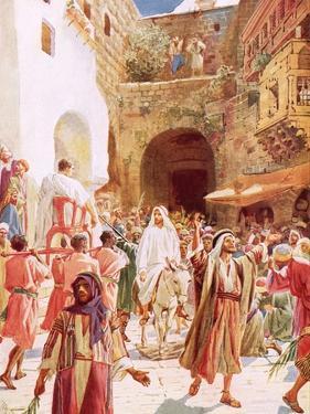 Jesus Entering Jesusalem by William Brassey Hole