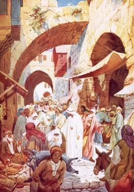 Jesus Healing a Woman in the Crowd While on the Way to the House of Jairus by William Brassey Hole
