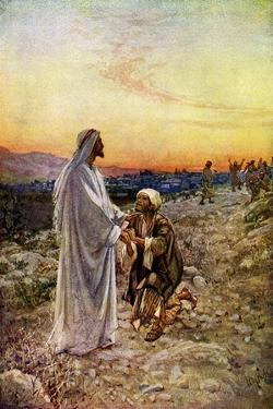 Jesus heals lepers in Samaria - Bible, New Testament by William Brassey Hole