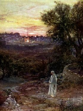 Jesus on the Mount of Olives - Bible by William Brassey Hole