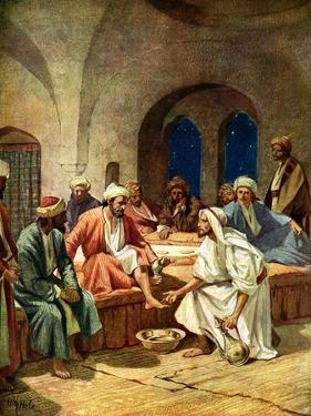 Jesus washes Peter's feet - Bible by William Brassey Hole