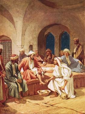 Jesus Washing His Disciples' Feet by William Brassey Hole