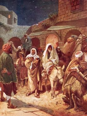 Joseph and Mary Arrive at Bethlehem, But Find There Is No Room for Them at the Inn by William Brassey Hole