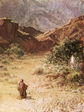 Moses and the Burning Bush by William Brassey Hole