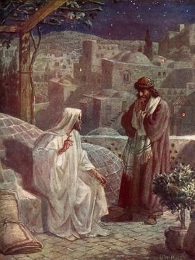 Nicodemus visits Jesus to hear his teachings - Bible by William Brassey Hole