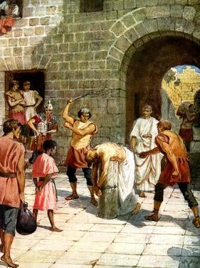 Pilate orders Jesus to be scourged - Bible by William Brassey Hole