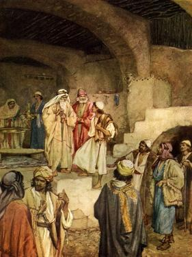 Samuel anointing David - Bible by William Brassey Hole