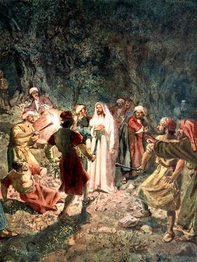 Soldiers of the Pharisees seize Jesus - Bible by William Brassey Hole