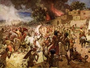 The death of King Josiah at Megiddo - Bible by William Brassey Hole