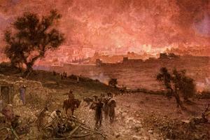 The destruction of Jerusalem by Nebuzar-Adan - Bible by William Brassey Hole