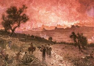 The Destruction of Jerusalem by Nebuzar-Adan by William Brassey Hole