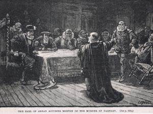 The Earl of Arran Accusing Morton of the Murder of Darnley 1581 by William Brassey Hole