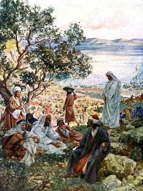 The feeding of the five thousand - Bible by William Brassey Hole