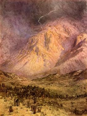 The giving of the law on Mount Sinai - Bible by William Brassey Hole