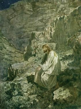 The temptation of Jesus - Bible by William Brassey Hole
