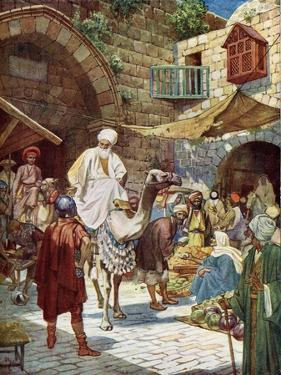 The Wise Men arrive at Bethlehem - Bible by William Brassey Hole