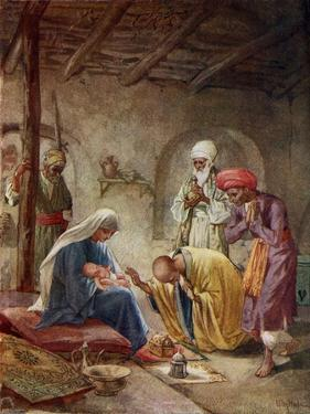 The Wise Men visit the baby Jesus - Bible by William Brassey Hole