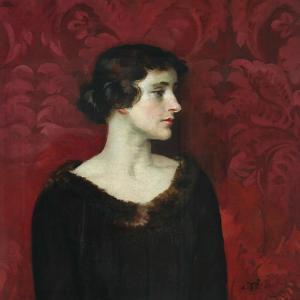 Woman In Brown by William Bruce Ellis Ranken