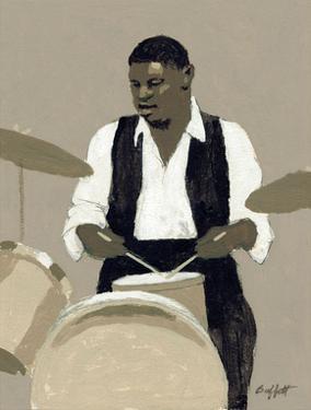 Jazz Drummer by William Buffett