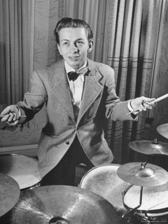 Boy Drummer and Composer Mel Torme, Playing Drums