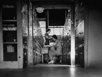 Clerks Working in File Room of the War Department Munitions Building
