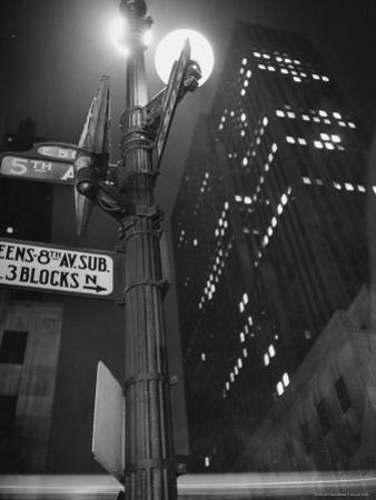 Lights in Skyscrapers at Rockefeller Center Being Dimmed to Conserve Energy During WWII
