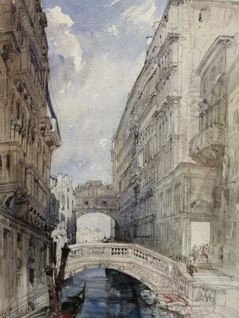 The Bridge of Sighs, Venice, 1846