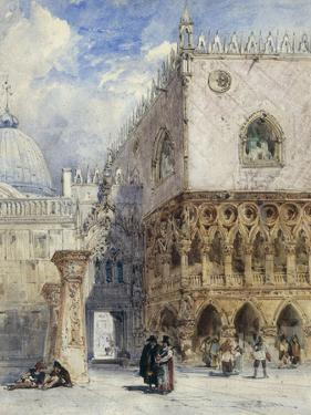 The Doge's Palace and the Piazzetta, Venice by William Callow