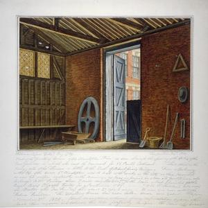 Part of the Dwelling House of Sir Christopher Wren, Southwark, London, 1820 by William Capon