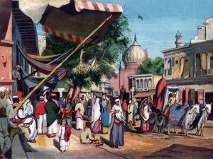 A Street at the Back of Jami Masjid, Delhi, India, 1857 by William Carpenter