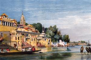 Cawnpore on the Ganges, India, 1857 by William Carpenter