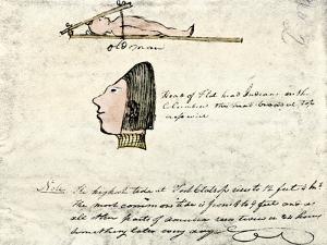 William Clark's Sketch of Flathead Indians in His Diary, c.1804-1806