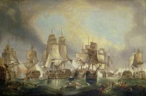Battle of Trafalgar, 1805 by William Clarkson Stanfield