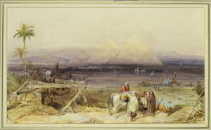 On the Nile, Egypt, 1846 by William Clarkson Stanfield