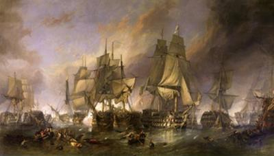 The Battle of Trafalgar by William Clarkson Stanfield