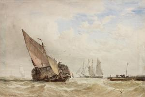 The Hayboat by William Clarkson Stanfield