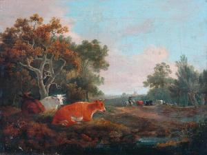 Landscape with Cattle by William Collins